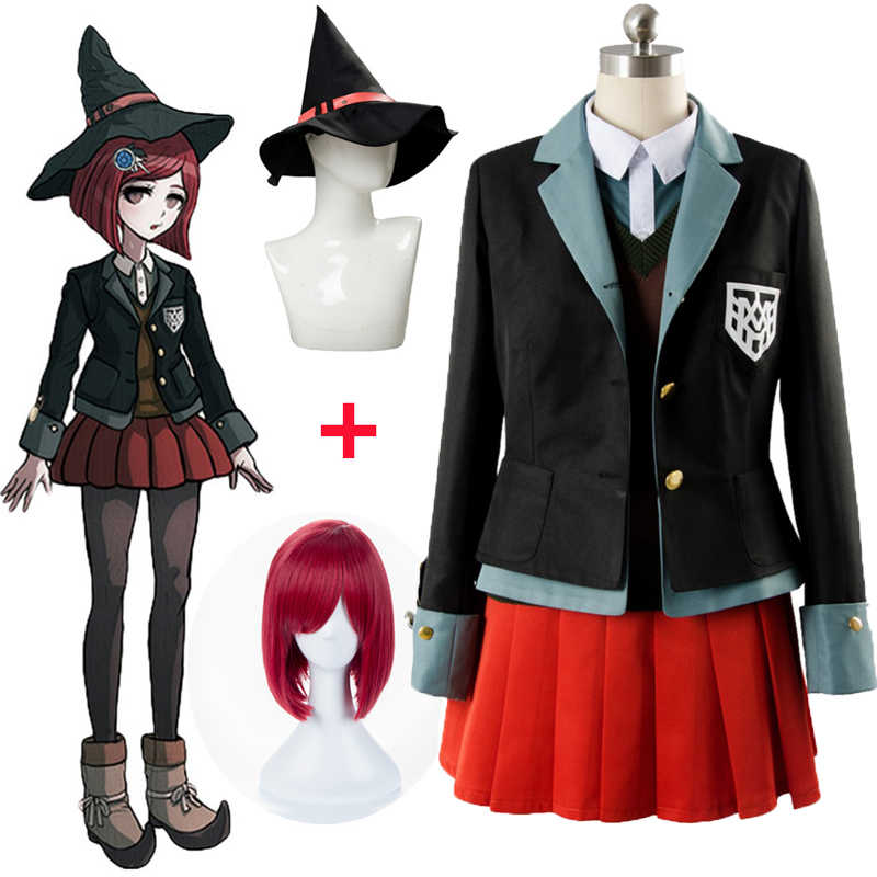 Danganronpa Cosplay Yumeno Himiko Cosplay déguisement Halloween fête femme japonais uniforme Anime Cosplay Costumes