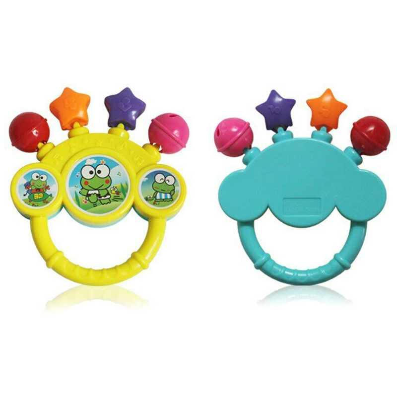 Cartoon Infant Baby Bell Rattles Newborns Toys Hand Toy For Children Music Kids 203