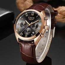 Reloje 2020 LIGE Men Watch Male Leather