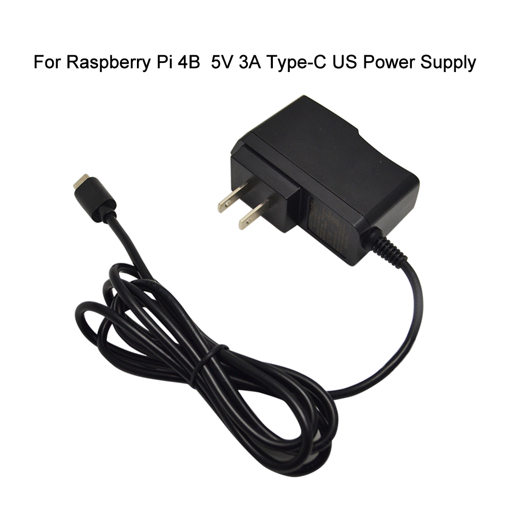 Raspberry Pi 4 Power Adapter 5V 3A Type-C Power Supply For RPI 4 Model B  US  Charger Available