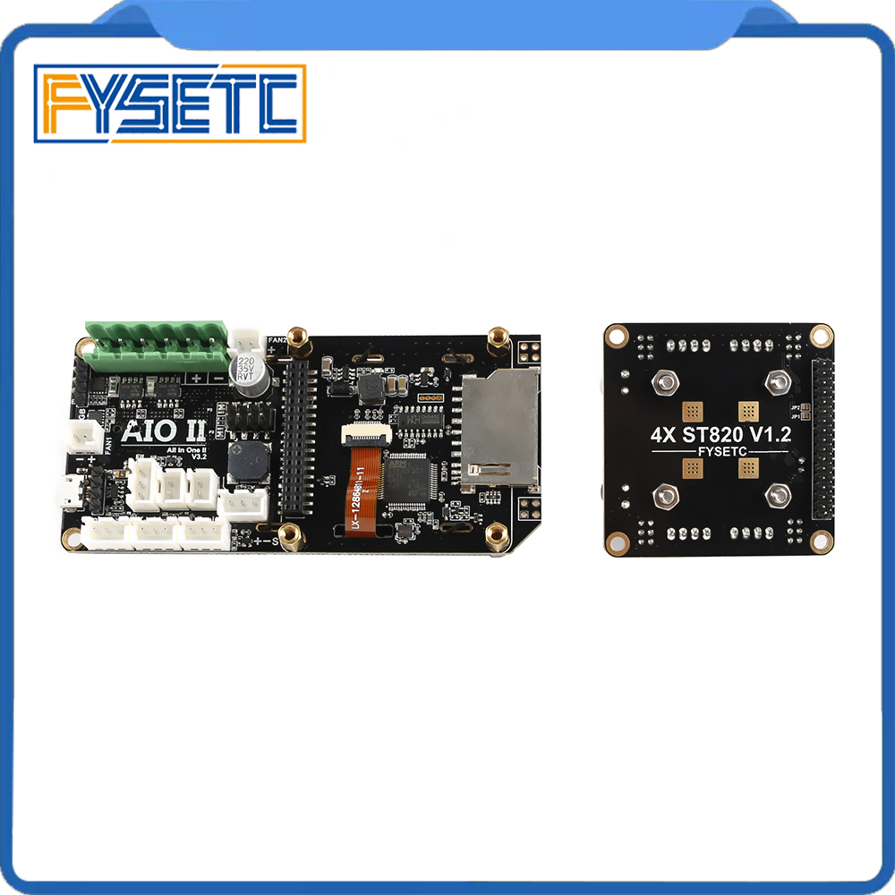 Image 5 - AIO II V3.2 Mainboard All in One II 32 Bit MCU 32bit ST820 Driver 256 Microsteps Controller Board Support Marlin For 3DP/CNC-in 3D Printer Parts & Accessories from Computer & Office