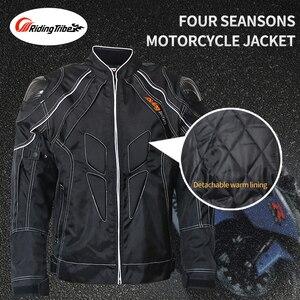 Image 5 - 乗馬部族オートバイ男性のバイカージーンズ防護服モトクロスバイクレース通気性パンツストレートズボンhp 11