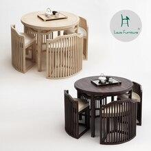 Луи моды столы для кафе китайский стиль и стулья в сочетании современный китайский НАСТОЯЩИЙ ДЕРЕВЯННЫЙ кофе стойки для планшета переговоров