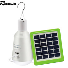 New Portable 7W LED Solar Bulb lamp Rechargable Energy Light  6V Panel Powered  For Outdoor Garden Camping Tent Fishing
