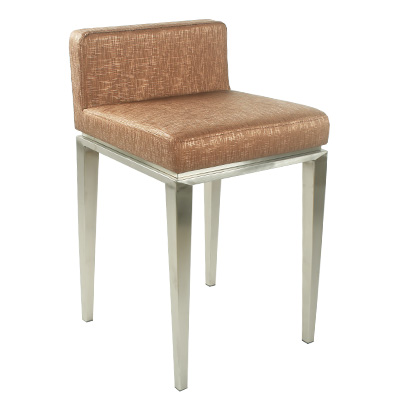 Stainless Steel Front Desk Bar Chair Back Jewelry Shop Stool Modern Cashier Reception  High