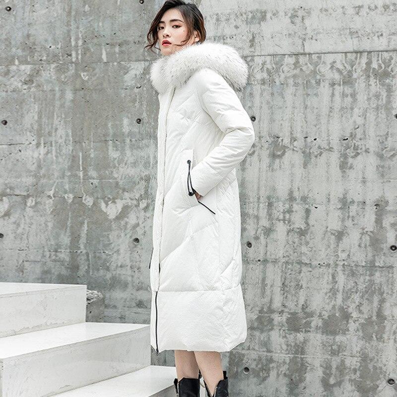 Jacket Women White Duck Down Coat Long Down Jacket Winter Coat Women Korean Puffer Jacket Chaqueta Mujer 6821 YY1320