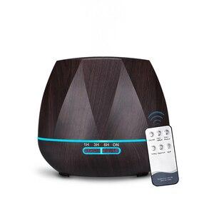 Image 1 - 500ML télécommande humidificateur dair diffuseur dhuile essentielle Humidificador brumisateur LED arôme diffuseur aromathérapie