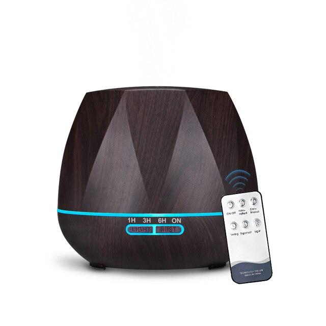 500ML télécommande humidificateur dair diffuseur dhuile essentielle Humidificador brumisateur LED arôme diffuseur aromathérapie
