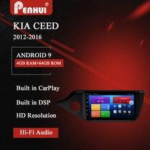 Oi-fi dvd do carro para kia ceed (2012-2016) rádio do carro reprodutor de vídeo multimídia navegação gps android10.0 duplo ruído