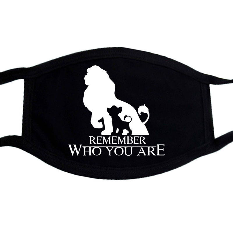 Lion King Cartoon Anime Muffle Respirator Black Washable Respirator Mask Protection Face Cover Windproof Dustproof Mask Filter