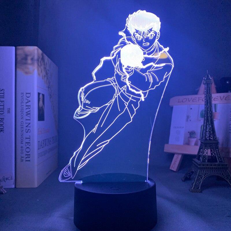 Hbcbf94bb98e14cc1a9bd7604e70b996dB Luminária Yu yu hakusho yusuke urameshi conduziu a luz da noite para o quarto decoração presente colorido nightlight anime 3d lâmpada yu yu hakusho