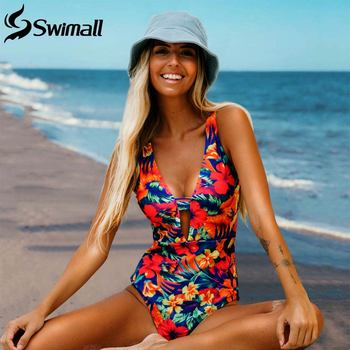 2020 Sexy Print Floral One Piece Swimwear Women Push Up Monokini Swimsuit maillot de bain femme Bathing Suit traje de baño mujer 5xl patchwork swimwear women 2018 top sexy one piece swimsuit maillot de bain femme bodysuit monokini bathing suit maio zaful