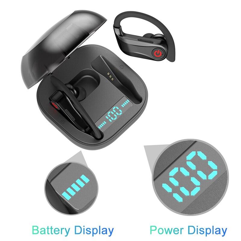 TWS 5.0 Bluetooth casque 3D stéréo sans fil écouteur pour sports powerBeats pro casque étanche casque avec boîte de charge