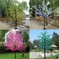 На Новый год и Рождество вечерние праздничные светодиодный цветущее дерево вишни свет 768 шт. светодиодный лампы 1 8 м/71in высота 110/220VAC непромо...