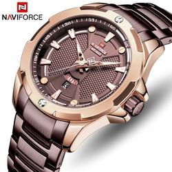 NAVIFORCE Watches Top Luxury Brand Men Fashion Stainless Steel Analog Quartz Watch Mens Military Sports Waterproof Wristwatch