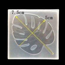Moule à gâteau en Mousse de Silicone cristal Transparent Non toxique, en forme de feuille de chocolat, outils de décoration de pâtisserie pour mariage