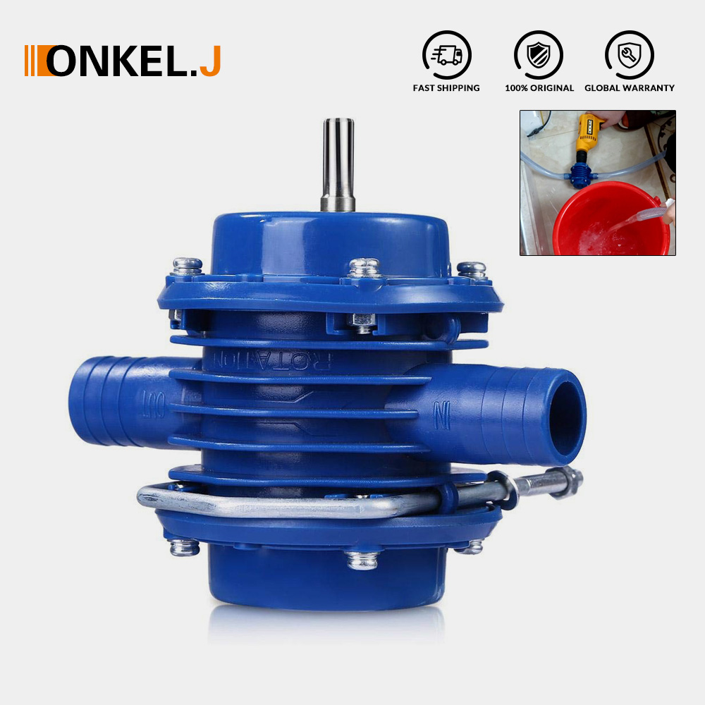 ONKEL.J Heavy Duty Self-Priming Hand Electric Drill Water Pump Micro Submersibles Motor Ultra Home Garden Centrifugal Pump