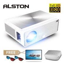 ALSTON Q9 Full HD 1080P 4K 6500 Lumens Điện Ảnh Proyector Máy Cân Bằng Laser 1 USB USB AV VGA H96 MAX có Quà Tặng