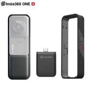 Image 1 - Insta360 قاعدة بطارية عمودية One R 360 Mod ، غلاف ممتص الصدمات الرأسي ، ملحقات Insta360 ONE R