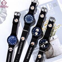 Flower Bangle Wholesale Wristwatch Women Lover's New Summer Daisy Canvas Girlfriend Trendy