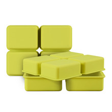 4 Cavity Rectangle Silicone Molds For Soap Making 3D Handmade Soap Forms Tray Mould