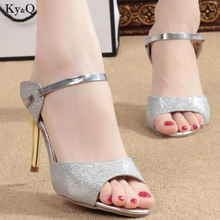 Sandals Fashion Casual-Shoes Korean-Version Stiletto Open-Toe High-Heel Summer Ladies