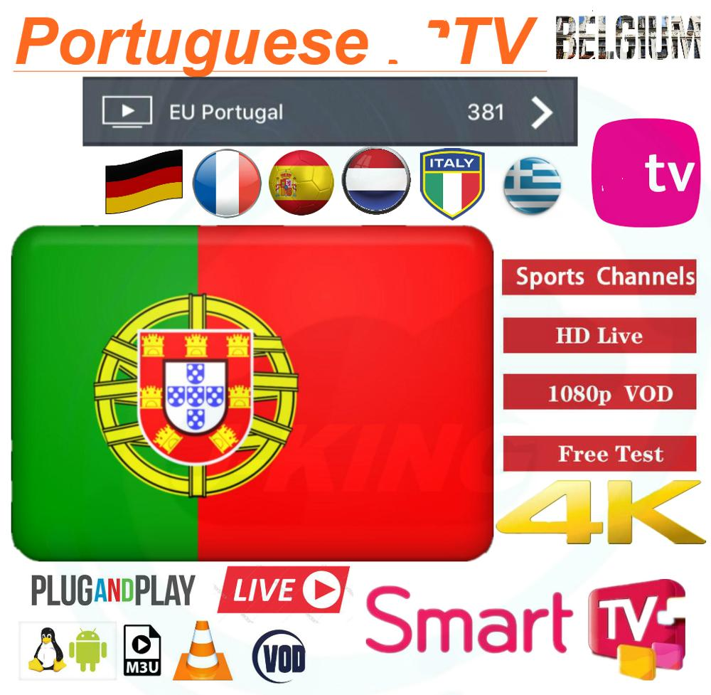 Portugal IPTV/europe IPTV 7000+ Live/4000 Vod Subscription Germany French Spanish Belgium Mediaset Premium M3u Android Tv