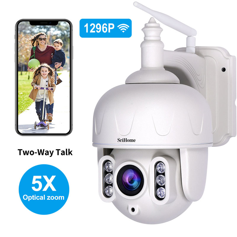 Sricam SH028 3.0MP Outdoor IP Camera Waterproof 5X Optical Zoom Wifi Camera 360° P2P  2-Way Audio Wireless Surveillance CCTV PTZ