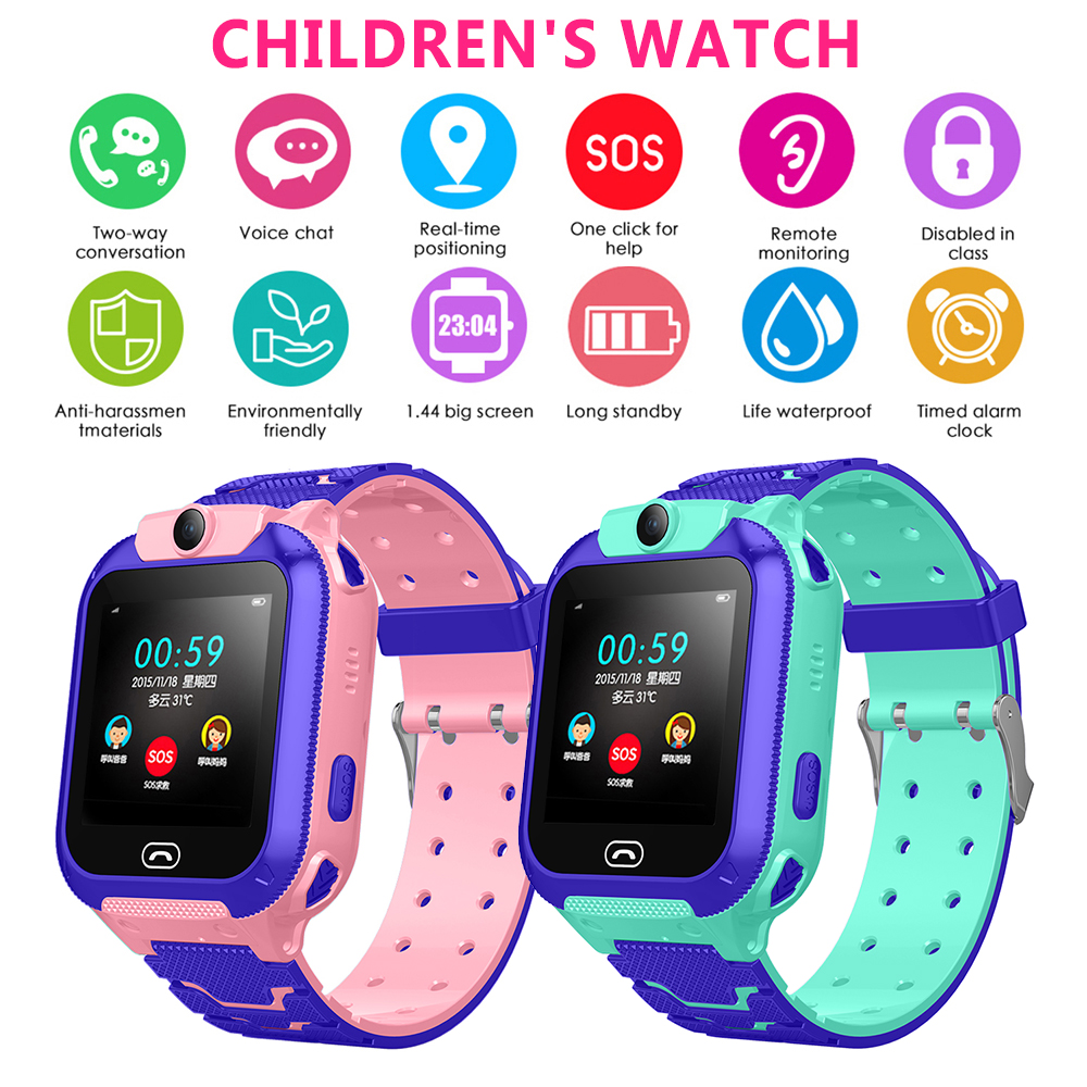 Anti-Lost Kids Smart Watch Life Waterproof LSB Positioning Tracker S0S SIM Call children security Smart Watchs With Camera