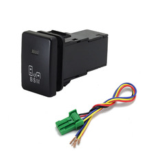1PC BSM DRL LED Parking radar Battery power supply Steering Sheel music Switch Button For Toyota Zelas PRIUS Sienna Yaris Venza