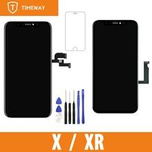 Sınıf Tianma OLED OEM iPhone X/ XR LCD ekran dokunmatik ekran Digitizer yedek meclisi parçaları ile siyah
