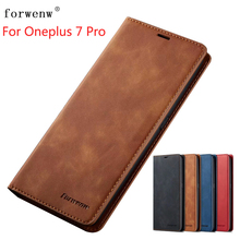 For Oneplus 7 pro Case FORWENW Magnetic Phone Cover Flip Leather Stand