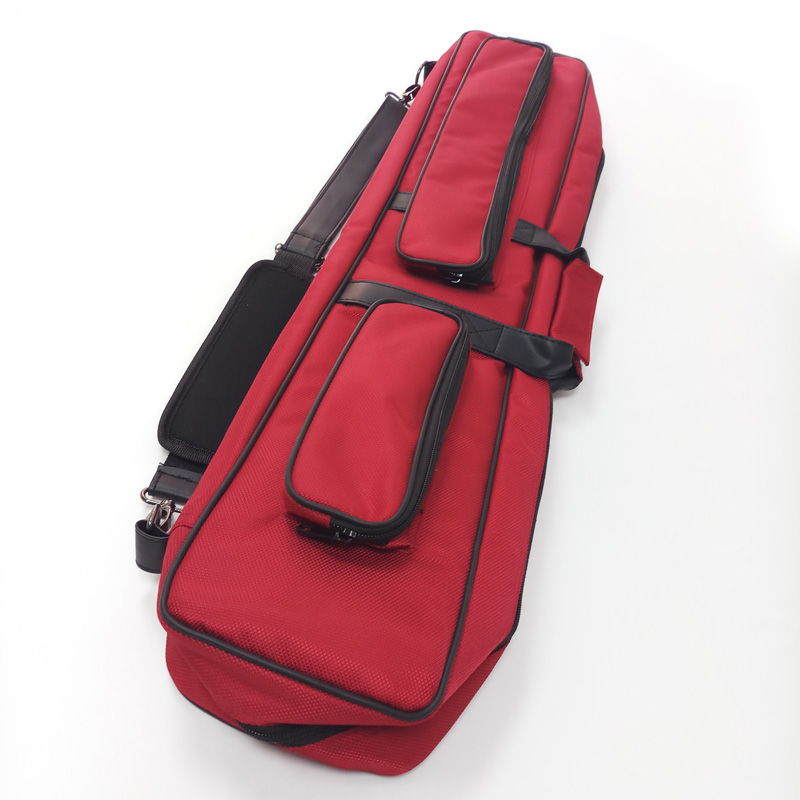 xmlivet red 5holes 1/2 splited canvas cue bag 2Butt 3Shaft Billiards Pool cue case Billiards acessories