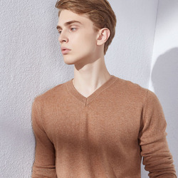 Hot Sale VNeck Sweaters for Men 100% Cashmere Knitting Pullover Winter 10Colors Winter New Soft Male Clothes
