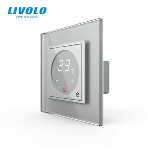 Image 3 - Livolo inteligentny termostat Standard ue regulacja temperatury, termostat do ogrzewania podłogowego, 4 kolory Panel ze szkła kryształowego, AC 110 250V