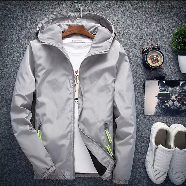 Men Autumn Bomber Jacket Women Casual Solid Windbreaker Zipper Thin Hooded Coat Slim Fit Pilot Jacket Outwear Male Plus Size 7XL 2