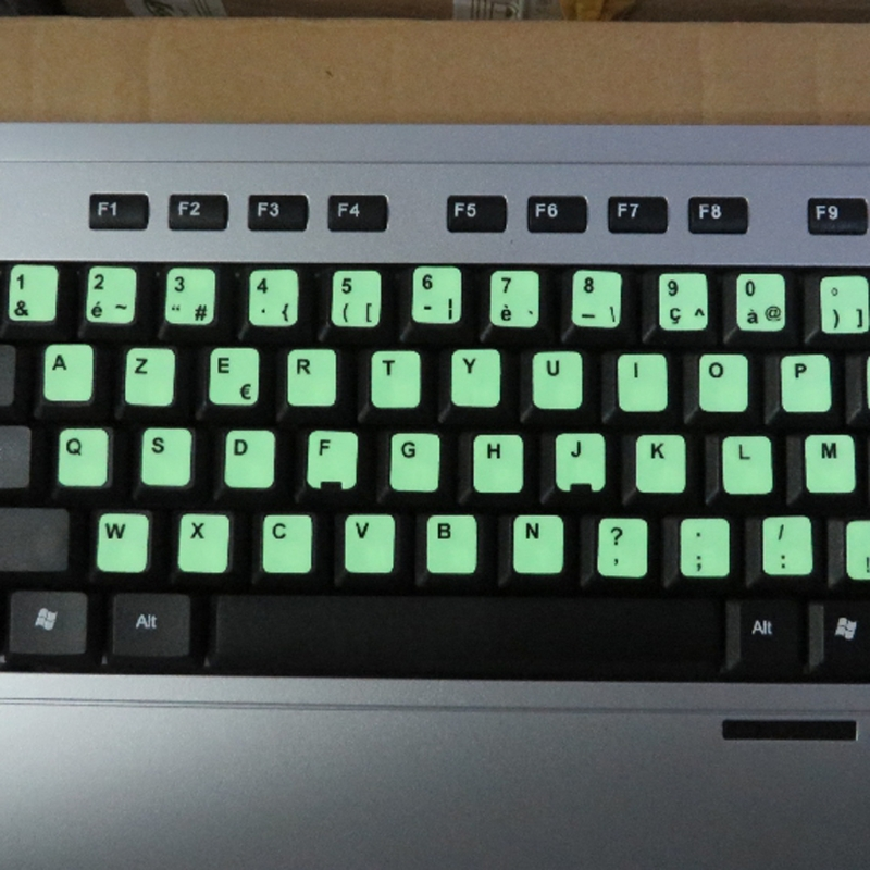 Luminous Waterproof Keyboard Stickers Fluorescent Keyboard Stickers Protective Film Layout with Button Letters for English key-5