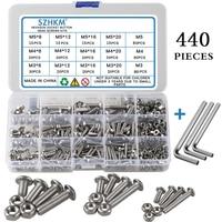 M3 M4 M5 Hexagon socket head screw classification kit Hexagon cylindrical drive Stainless steel Hexagon button head cap Electron
