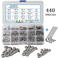 Stainless steel self tapping screw combination set M3 M4 M5 hexagon socket screw set hexagonal cylindrical drive