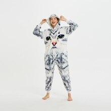 3D Cat Unisex Adult One-Piece Pajamas Cosplay Cartoon Onesies One-piece Animal Sleepwear for Pyjamas Christmas Costume