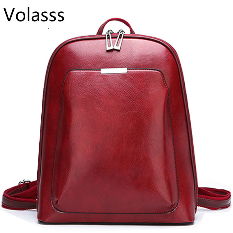 Sac A Dos School Bags Backpack Women Leather Backpacks For GirlsFemale Travel Shoulder Bagpack Ladies Casual Daypacks Mochilas