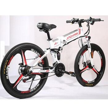 Bicicleta eléctrica estándar de 48V, bicicleta de montaña plegable R3 con asistente de litio, bicicleta de montaña nacional de 26 pulgadas de velocidad variable para caminar