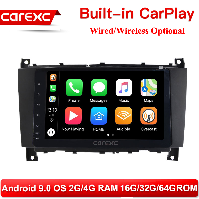 CarExc 8 inch <font><b>Android</b></font> 9.0 Stereo Radio Player <font><b>GPS</b></font> CarPlay for <font><b>Mercedes</b></font> Benz W209 2005 2006 <font><b>W203</b></font> C180 C200 C220 C230 C240 C250 image