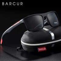 BARCUR lunettes de soleil polarisées hommes TR90 ultraléger Vintage lunettes de soleil pour femmes lunettes carrées oculos lunette de soleil femme