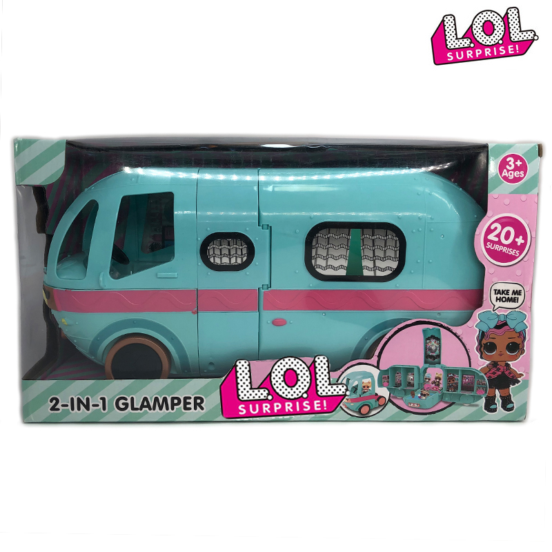 L.O.L. Dolls Surprise Original Glamper 2-in-1 Toys Bus Detachable Dolls Lols House Anime Figures Model Girl's Birthday Gifts