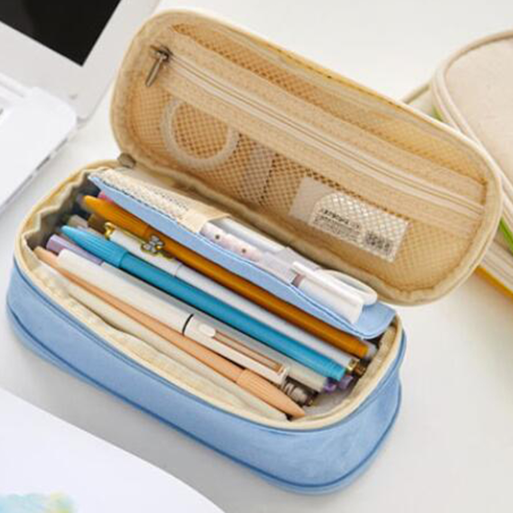 Pencil Case Simple Style School Student Stationery Bag Students Large Capacity Pencil Holder Pencil Bags For Girls And Boys