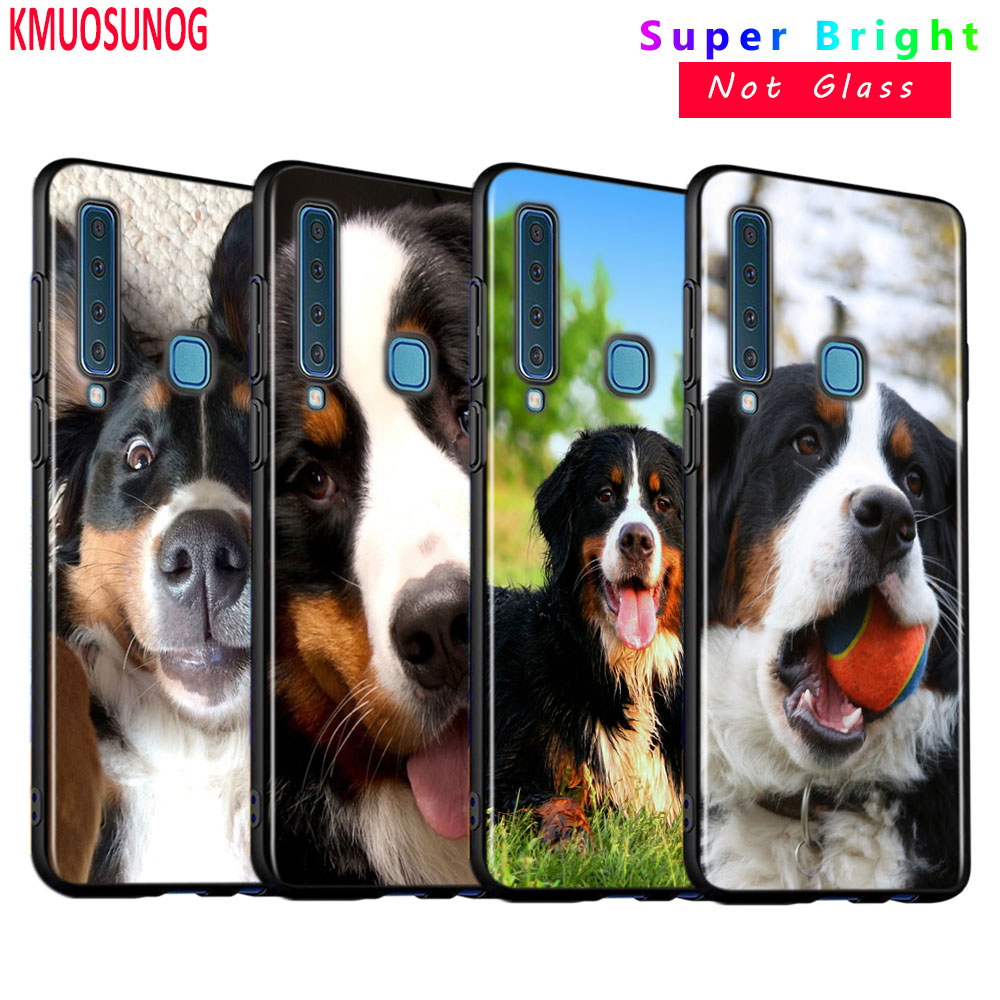 Black Silicone Cover Animal Bernese Mountain <font><b>Dog</b></font> for <font><b>Samsung</b></font> <font><b>Galaxy</b></font> A9 A7 2018 A8 A6 Plus A5 <font><b>A3</b></font> Star 2018 <font><b>2017</b></font> <font><b>Phone</b></font> <font><b>Case</b></font> image