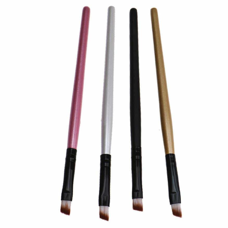 Случайный цвет кисти для макияжа Пернатые женские горячие модные брови косметические искусственные волокна кисти с деревянными ручками x 2 шт 70