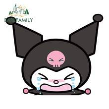 EARLFAMILY 13cm For Kuromi Girl Peeker Waterproof Car Stickers Vinyl Car Wrap Decal Graffiti Sticker Repair For JDM SUV Decor