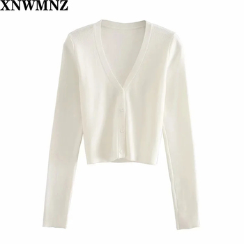 2020 za Knitting Cardigan Women Sweaters Coat New Solid Spring and Autumn Fashion V-Neck Long Sleeve Knit Sweater Coat Tops she new preppy style children s clothing spring autumn winter long sleeve sweater cardigan boys cotton v neck solid kids sweaters